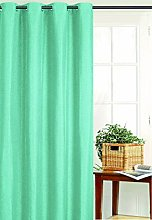Homemaison Panel Curtain, Polyester, turquoise,