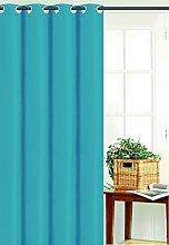 Homemaison Plain Baffle Effect Curtain, Polyester,