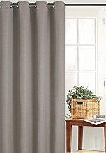 Homemaison Plain Blackout Curtain, Polyester,