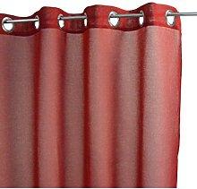 Homemaison Plain Curtain, Polyester, red,