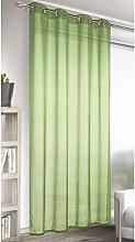 Homemaison Plain Faux Linen, Muslin Curtain, Moss