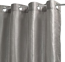 Homemaison Plain Muslin Curtain with Silk Look,