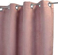 Homemaison Plain Suede Curtain, Polyester, purple,
