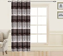 Homemaison Striped Curtain with Eyelets,
