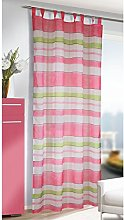 Homemaison Striped Net Curtain with Loops,