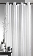 Homemaison Woven Net Curtain with Striped Set,