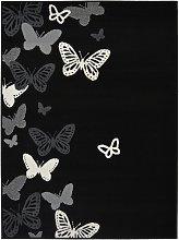 Homemaker Adorn Butterfly Rug - 120x170cm - Black