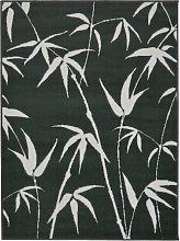 Homemaker Adorn Leaf Rug - 80x150cm - Charcoal