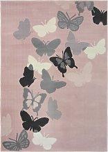 Homemaker Butterfly Short Pile Rug - 120x170cm -