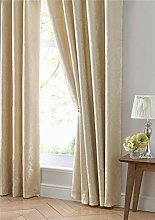 Homemaker ® Gold curtains lined jacquard