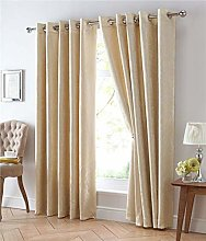 Homemaker ® Gold curtains lined pair gold