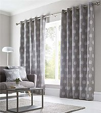 Homemaker Lined curtains in ochre or grey pair of