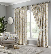 Homemaker Lined curtains pencil pleat ochre yellow