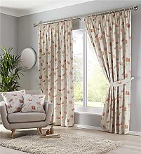 Homemaker Lined curtains pencil pleat terracotta