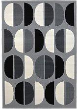 Homemaker Monochrome Geo Rug - 120x140cm - Grey