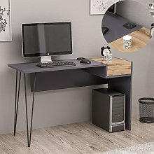 Homemania Computer Desk Candy 121x45x76 cm Walnut