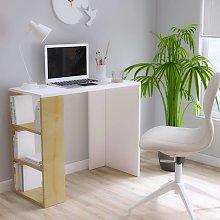 Homemania Computer Desk Rosa 90x40x75 cm White and