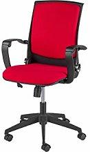 Homemania Eagle Chair, Fabric, Black-Red,