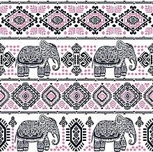 Homemania Geometric Elephant Rug for Living Room