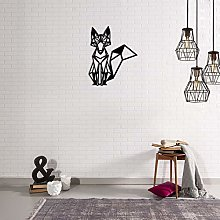 Homemania Metal Wall Decoration Black Fox Art Home