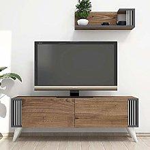 Homemania Nicol, Wood, Walnut, 120 x 31 x 42 cm