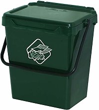 Homemania Rubbish Bin Polypropylene, Dark Green,