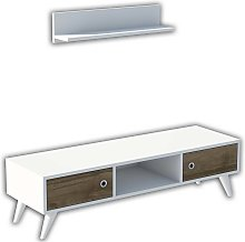 Homemania TV Stand Aspen 130x40x35 cm White and