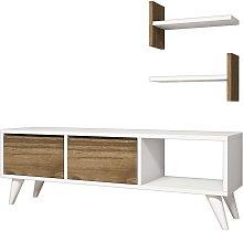 Homemania TV Stand Foxy 120x30x40 cm White and