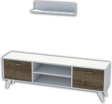 Homemania TV Stand Horus 120x30x48.6 cm White and