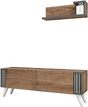 Homemania TV Stand Nicol 120x31x42 cm Walnut