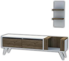 Homemania TV Stand Pers 130x30x38.6 cm White and