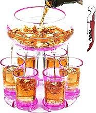 Homemari 6 Shot Glass Dispenser and Holder with