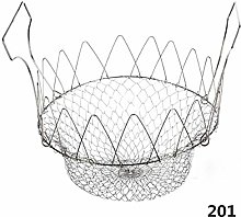 Homemust Stainless Steel Oil Fry Basket Foldable