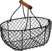Homes on Trend Storage Basket Small Metal Wire