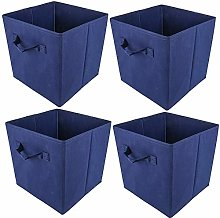 HomeSailing EU 4pcs Foldable Canvas Storage Box