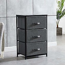 HomeSailing EU Bedroom Night Stand with 3 Drawers