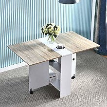 Homesailing EU Folding Dining Table with Storage
