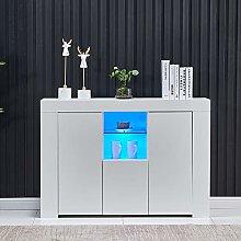 Homesailing EU High Gloss LED Sideboard 2 Doors