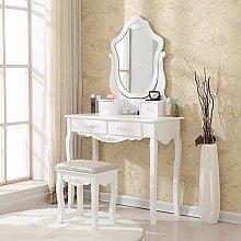 HomeSailing EU White Makeup Mirror Dressing Table