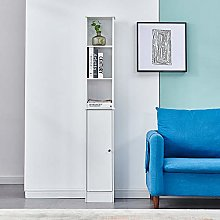 HomeSailing Living Room Wood Slim Bookcase Cabinet