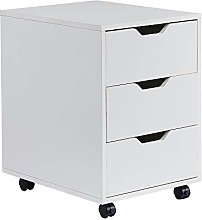 HomeSailing Office White Unit Storage Cabinet with