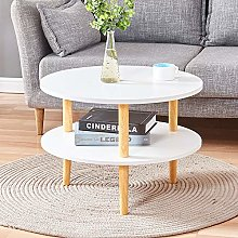 HomeSailing Small Round Side Sofa Table with