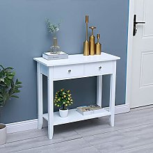 HomeSailing White Entryway Console Table with 2
