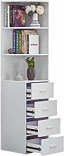 HomeSailing White Living Room Slim Bookcase
