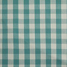 HOMESCAPES 100% Cotton Blue Gingham Furnishing