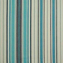 HOMESCAPES 100% Cotton Blue & White Stripe