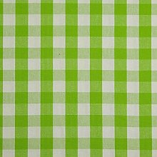 HOMESCAPES 100% Cotton Green Gingham Furnishing