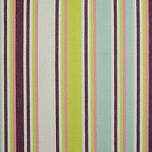 HOMESCAPES 100% Cotton Green & Purple Stripe