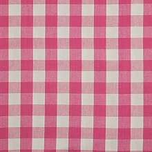 Homescapes 100% Cotton Pink Gingham Furnishing
