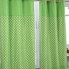 HOMESCAPES 100% Cotton Unlined Eyelet Curtain Pair
